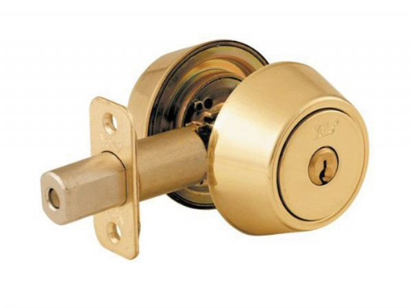 YALE P5211 Key & Turn Deadbolt - Polished Brass
